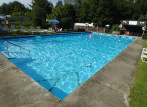 Outdoor pool at Crystal Brook Resort.
