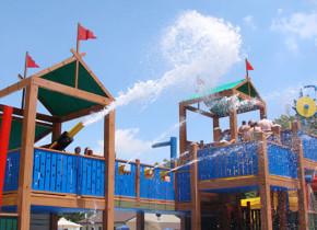 Splash pad at Yogi Bear's Jellystone Park Gardiner.