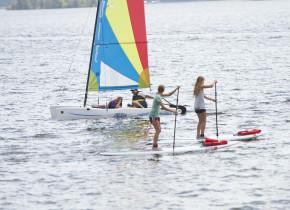 Water activities at Ruttger's Bay Lake Lodge.