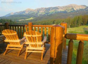 Balcony view at Bridger Vista Lodge.