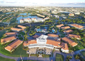 Aerial view at Trump National Doral Miami.
