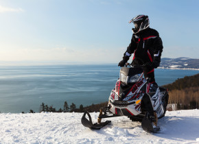 Snowmobiling at Fairmont Le Manoir Richelieu.