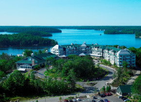 Aerial view of JW Marriott The Rosseau Muskoka Resort & Spa.
