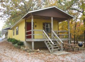 Cottage exterior at Golden Arrow Resort.