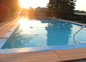 Pool view at Acra Manor Resort.