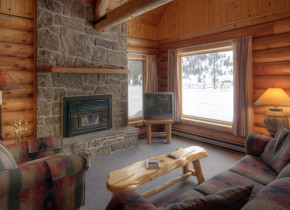 Chalet living room at 320 Guest Ranch.