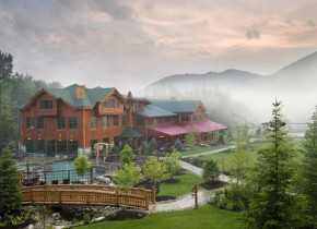 Exterior view of The Whiteface Lodge.