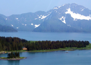 Exterior view of Kenai Fjords Glacier Lodge.