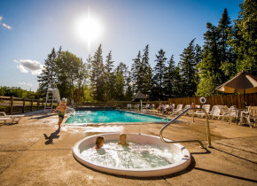 Resort pool at Kabetogama Lake Association.