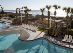 Outdoor pool at Crown Reef Resort.
