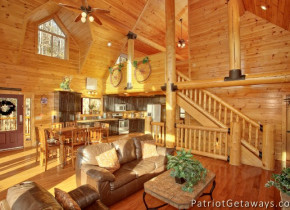 Cabin interior at American Patriot Getaways, LLC.
