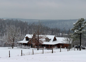 Winter time at Saddleback Lodge.