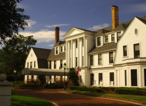 Exterior view of Pinehurst Resort.