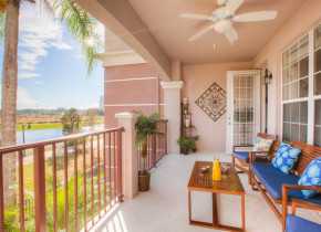 Rental porch at Orlando Luxury Escapes Vacation Rentals.