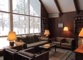 Cottage interior at Mountain Springs Lake Resort.