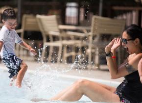 Outdoor swimming pool at Woodloch Resort