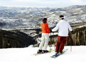 Skiing at Trailhead Lodge.