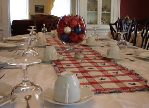 Dining at Holladay House Bed & Breakfast.