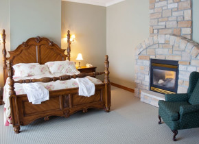 Luxurious guest room at Christie's Mill Inn.