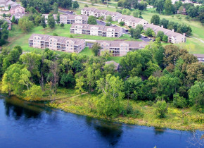 Aerial view of Pointe Royale.