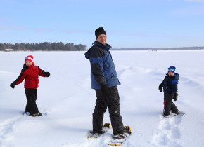 Snowshoeing at Bayview Wildwood Resort.