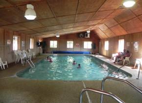 Indoor pool at Sullivans Resort & Campground.