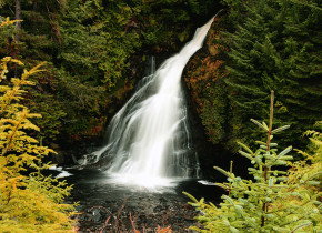 Waterfall at Salmon Falls Resort.