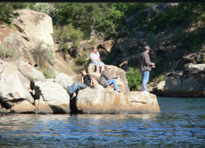 Fishing at The Ashley Inn.
