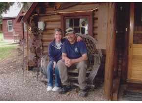 Couple at O-Bar-O Cabins.