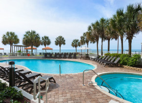 Outdoor pool at The Strand Resort Myrtle Beach.