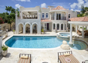 Villa pool at Island Properties Luxury Rentals.