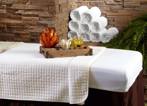 Spa treatment at The Lodge at Woodloch.
