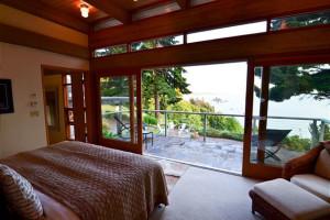 Rental bedroom at  Redwood Coast Vacation Rentals..