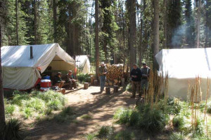 Camping at Silver Spur Outfitters.