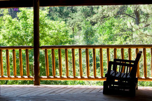 Lodge porch at Hisega Lodge.