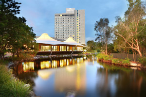Exterior view of Royal Pines Resort.