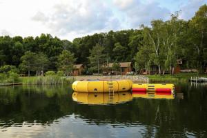 Water trampoline at Pine Terrace Resort.