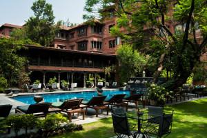 Outdoor pool at Dwarika's Hotel Kathmandu.