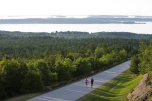 Jogging near Point Lookout Resort.