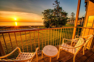 Sunsets at Glidden Lodge Beach Resort.
