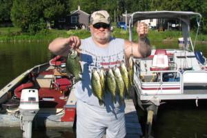 Fishing at Island Lake Resort.