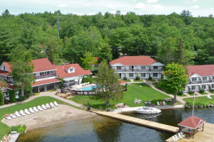 Aerial view of Severn Lodge.