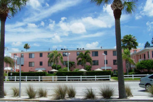 Exterior view of Gulf Winds Resort Condominiums.