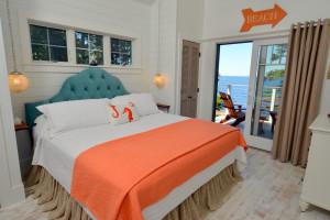 Cottage bedroom at Newagen Seaside Inn.