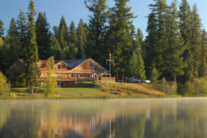 Exterior view of Tyee Lake Lodge.