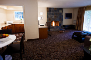 Fireplace suite at The Resort at the Mountain.