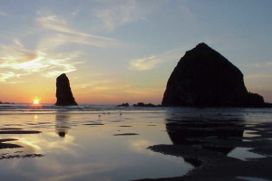 Haystack Rock at Gearhart by the Sea.