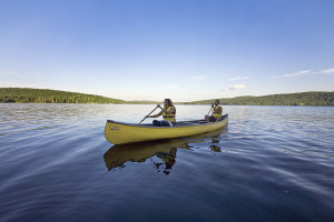 Canoeing on the lake at Killarney Lodge.