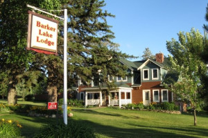 Exterior view of Barker Lake Historic Lodge.