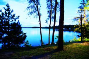 The lake at Bay View Lodge.